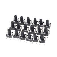 50 Pcs 6x6x12mm Momentary 4pin Push Button Micro Tactile Tact Switch w Cap AP