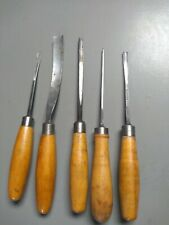 5 Vintage Herring Bros. Prize Medals Wood Carving Gouge Chisels