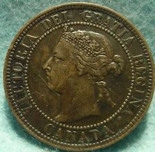 1899 XF High-Grade CANADA LARGE CENT Victoria COIN NoRes CANADIAN <-