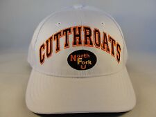 North Fork Cutthroats Snapback Hat Cap Zephyr White