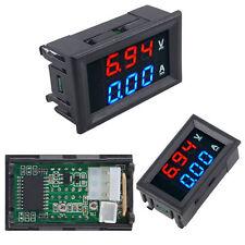DC 100V 10A Voltmeter Ammeter LED Panel 2-Digital Display Voltage Meter Gauge