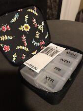 Vera Bradley Lighten Up Travel Pill Case in Black
