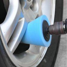 Blue Burnishing Buffing Polishing Sponge Foam Pad Car Wheel Hub Shank LED N2C
