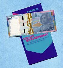 """Merck - """"Beethoven Color Symphony"""" Specimen Test Note 2012 with Folder - Unc"""