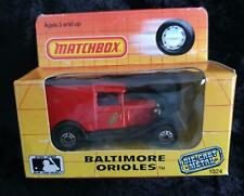 MATCHBOX MODEL A FORD ISLE of MAN - BROKEN BITS & in WRONG BALTIMORE ORIOLES BOX