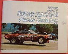 Original 1971 DRAG RACING PARTS CATALOG - CHRYSLER PERFORMANCE PARTS 426 MOPAR