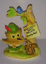 Woodsy Owl Smokey Bears friend scarce figurine ceramic forestry collectible
