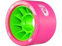 Atom Wheels - set of 4 - Savant derby wheels 59 x 38mm - 88a pink / green