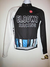 CASTELLI Long Sleeve Fleece Jersey ELBOWZ Racing Team Jacket Medium M USA 14