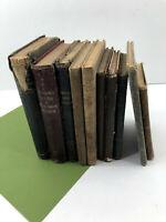 10 Antique Vintage Children's School Books Textbooks Readers Arithmetic 1800's