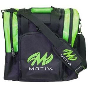 Motiv Ascent Single Tote Black/Green Bowling Bag