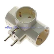 (1 PC) 3 Way Outlet Schuko EU Extension Power Strip Plug Splitter Max 250V 16A