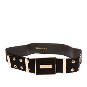 SILVIAN HEACH Waist Belt Size 38 / 2XS Contrast Panel Double Button Stud Closure