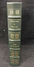 DEMOCRACY IN AMERICA Alexis De Tocqueville Gryphon Legal Classics Leather