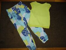 EUC Crazy 8 Girls Outfit Tank top Flowy Pants size S 5-6