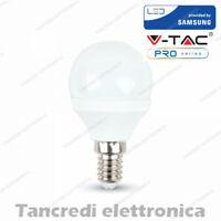 Lampadina led V-TAC 5.5W = 40W E14 bianco naturale 4000K VT-236 minigolobo P45