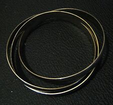 3x interconnected gold tone bangle style bracelet approx 2.5 ins diameter