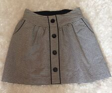 LOVE NOTES ladies Skirt Gray Black Oxford Look Big Button Detail Lined Medium