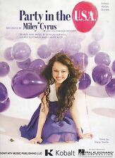 Miley Cyrus Party In The U.S.A.    US Sheet Music