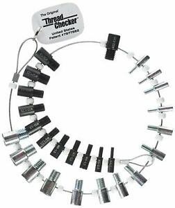 Thread Checker SWTC-26 Nut & Bolt (Inch & Metric) 26 male/female gauges 7877882