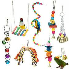 7 Pack Beaks Metal Rope Small Parrot Toy Budgie Cockatiel Cage Bird Toys Set