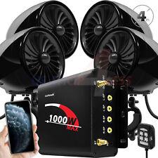1000W Bluetooth Estéreo Audio 4 altavoces de la motocicleta MP3 Radio Fm Usb Aux del sistema
