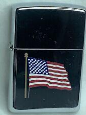New listing Vintage 1998 Zippo American Flag Chrome, Sealed, Unstruck