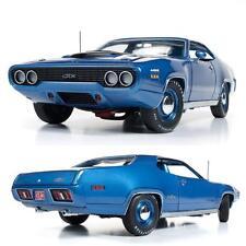 AUTOWORLD AMM1065 1971 PLYMOUTH GTX HARDTOP B5 BLUE DIECAST MODEL CAR 1:18