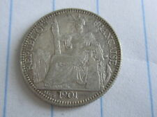 10 Cent Indo-China Silver Coin 1901 (See Photos) #B254