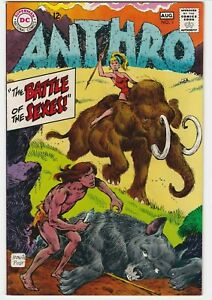 Anthro #1 VF+ 8.5 Battle Of The Sexes First DC Issue! Pre-historic Mammoths 1968
