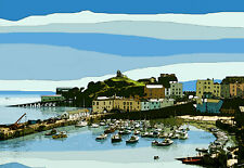 TENBY WALES POSTER Limited Edition Print By Sarah Jane Holt