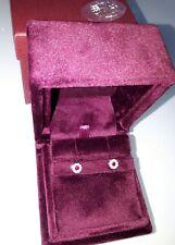 Preziosi ed eleganti Orecchini con Rubini e Diamanti in oro bianco 750 18 kt New
