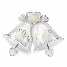 "S/SHAPE:WEDDING BELLS Foil Balloon 35""/89cm w x 26""/66cm h"