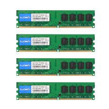 Tecmiyo 8GB (4x 2GB) DDR2 800MHz PC2-6400U 2RX8 DIMM Intel RAM Desktop memory #