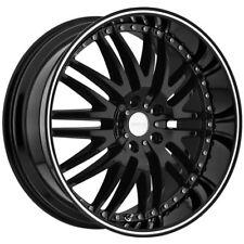 """4-NEW 18"""" Inch Menzari Z04 18x8.5 5x115 +35mm Gloss Black Wheels Rims"""