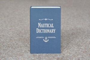 Secret NAUTICAL DICTIONARY Book Travel Safe Key Lock Money Cash Jewellery Box