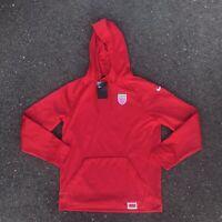 NEW Nike Belarus Dri-Fit Team Olympic Sweatshirt Hoodie Men's Medium Red Soccer