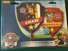 """New 27"""" PAW PATROL Chase and Marshall Super Shape Balloon 2 sided Design"""