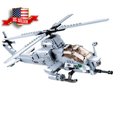 *Us Seller* Ah-1Z Viper Helicopter Custom Army Modern Military Building Blocks