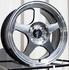 Avid1 AV08 15X6.5 Rims 4x100 +35 Black Wheels (Set of 4)