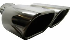 Twin Square Stainless Steel Exhaust Trim Tip Peugeot 107 2005-2016