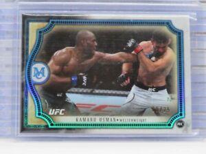 2018 Topps UFC Museum Kamaru Usman Sapphire Parallel #20/25 Q18