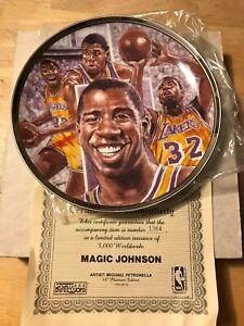 "Sports Impressions LA Lakers Magic Johnson 8 1/2""  Platinum Plate 1991 4007-03"