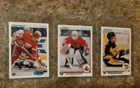 (3) Sergei Fedorov Belfour Recchi 1990-91 Upper Deck French Rookie Card lot RC