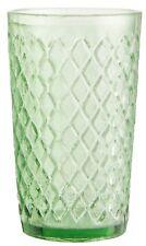Ib Laursen Glasteelicht Glas Teelicht Windlicht Raute grün Teelichtglas