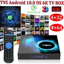 T95 Android 10.0 mirino 4+64G 32G 6K 3D BOX TV Quad Core WIFI Media Player Cooler