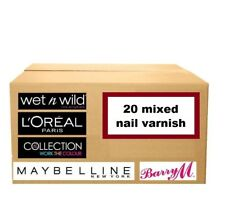 20 nail varnish polish WHOLESALE JOBLOT loreal barry m maybelline collection uk