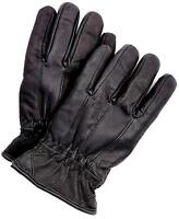 Riparo Men's Genuine Leather Winter Gloves with Fleece Lining - Black