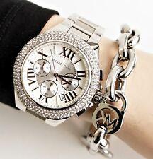 Original Michael Kors Uhr Damenuhr  MK5634 Camille Farbe:Silber Kristall NEU