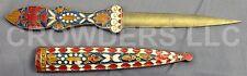 Antique Letter Opener Ottoman Knife Byzantine Enamel Cloisonné Russian Mosaic